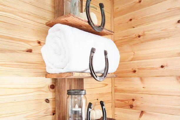 Rustic Bathroom Organizer