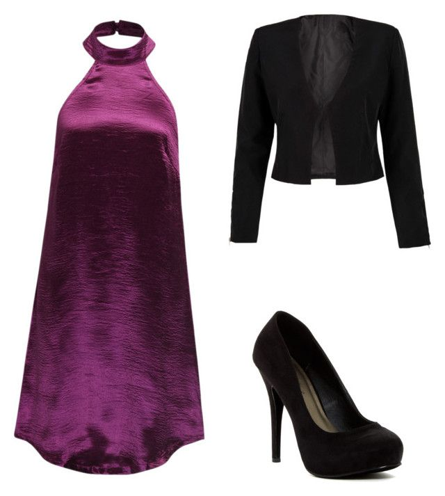 """""""Purple"""" by ophelierose on Polyvore featuring mode, WithChic et Michael Antonio"""