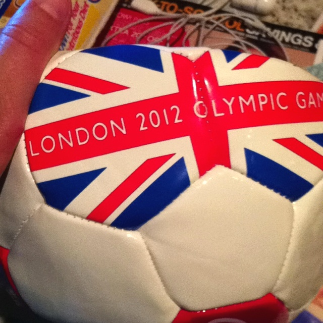 Olympic soccer ball from coke