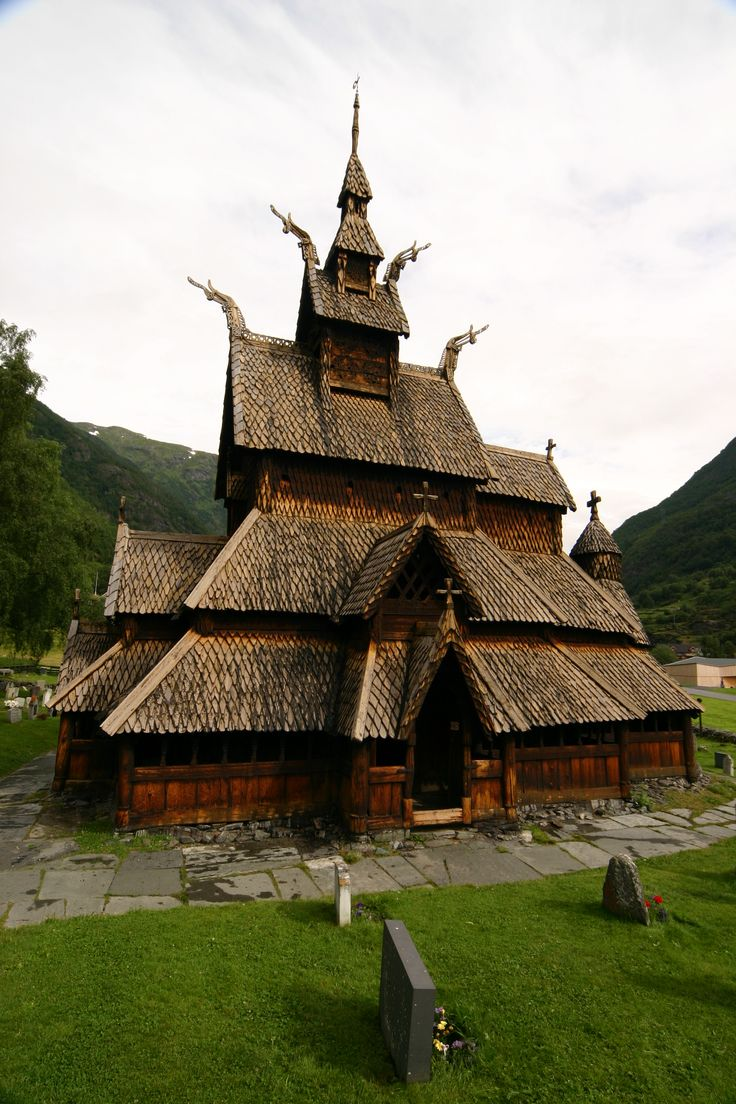 """""""Borgund Stave Church in Norway, built in the late 1100s.  When the Vikings became Christians, they built churches like this one, more than 1,000 of them."""""""