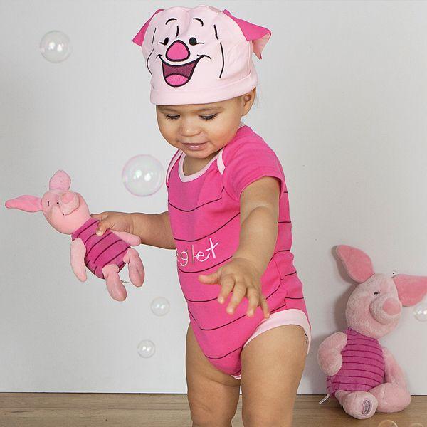 Disney Baby - Piglet Jersey Bodysuit with hat