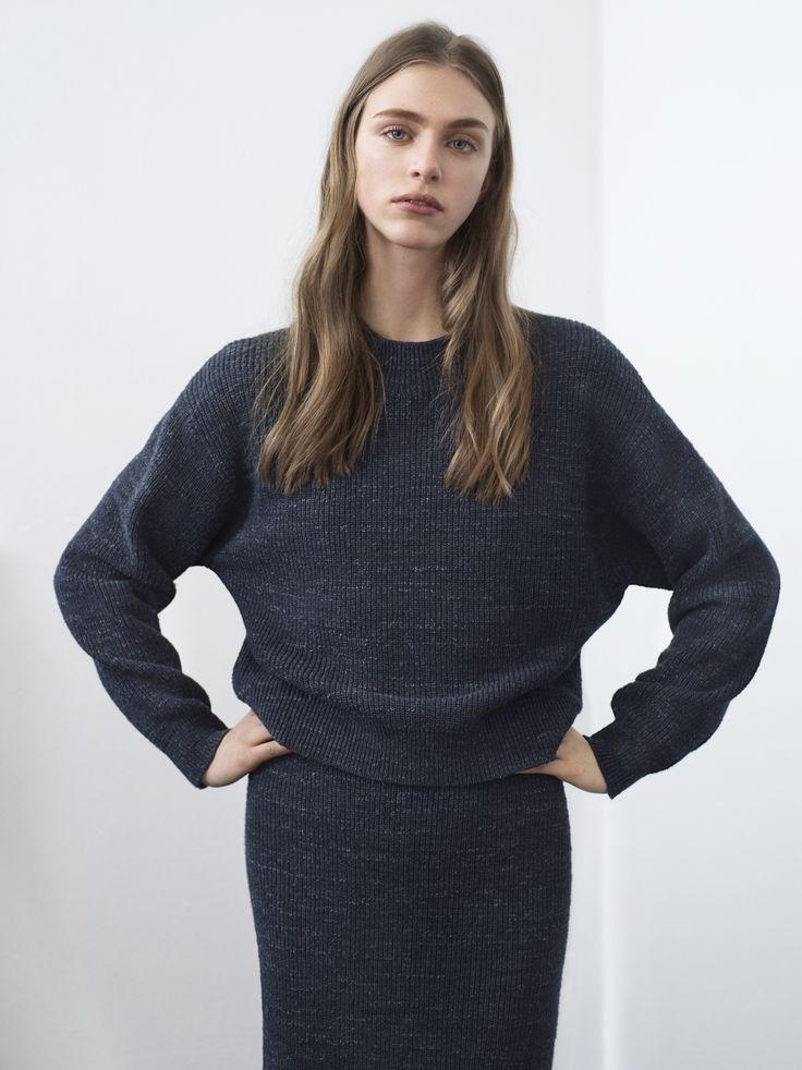 Filippa K AW15,  melange knit skirt & sweater