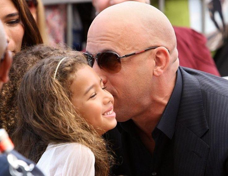 Vin Diesel with his elder daughter Hania Riley Sinclair ...