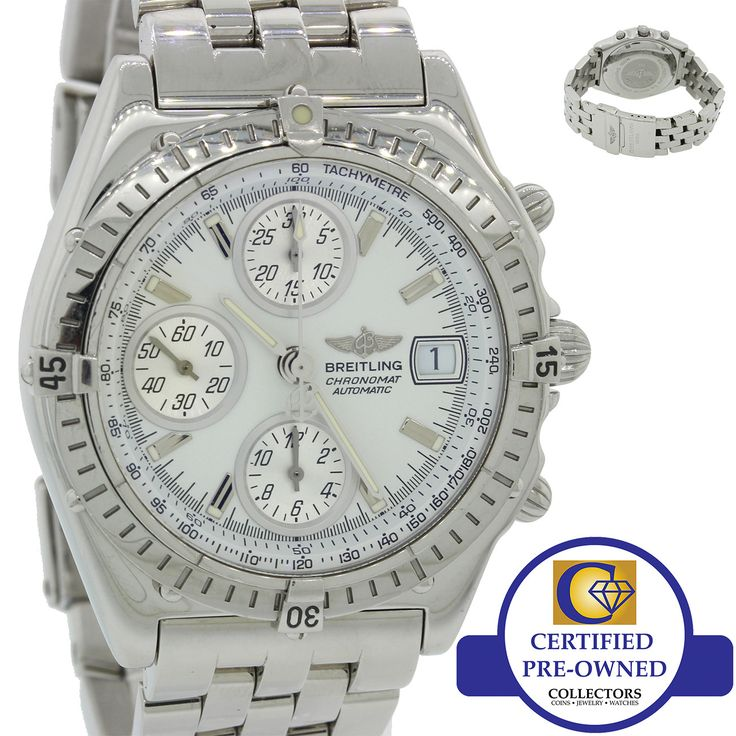 Breitling Chronomat A13050.1 White Chronograph 38mm Stainless Automatic Watch