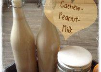 Erdnuss-Cashew-Milch express - Rezept für Thermomix und normalen Mixer