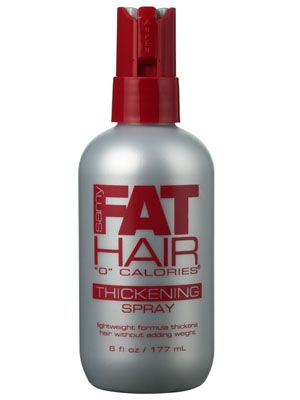 Samy Fat Hair Thickening Spray.. I don't know how I ever made it without this stuff. It's great