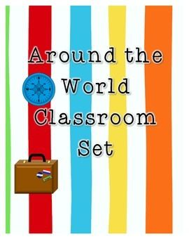 Around the World travel theme... this would be great for next year!