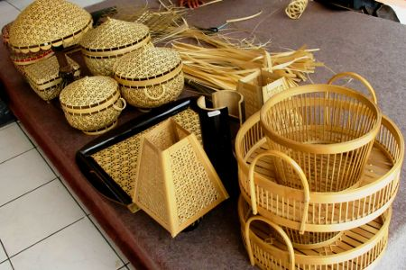 Kerajinan Bambu - Kediri, Jawa Timur