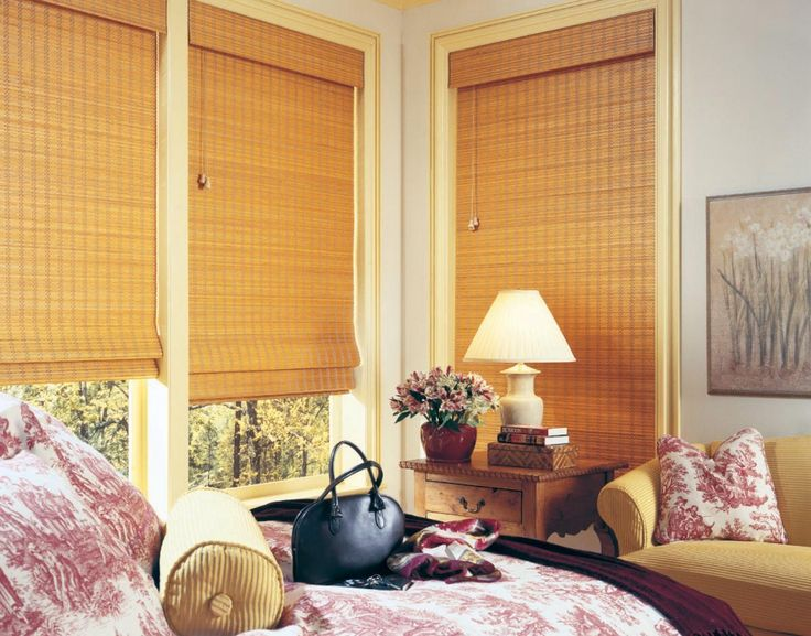 26 best woven wood shades images on pinterest window blinds hunter douglas and woven wood shades - Bamboo Window Shades