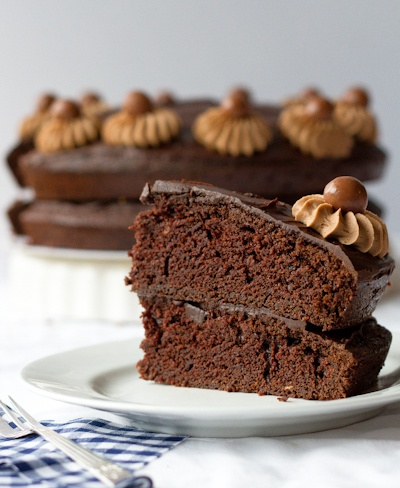 Chocolate cake with Belgian chocolate ganache