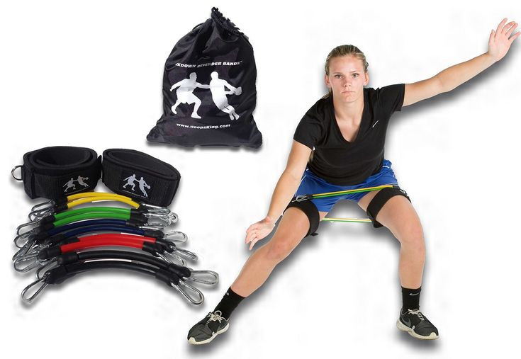 LockDown Defender (TM) Resistance Training Bands Improve Lateral Movement,Quicker on Defense, Great for P90X, Insanity, T25. LOTS OF RESISTANCE - Includes 5 pairs of resistance bands from 10 to 50 lbs. & Carry Bag - Add multiple bands to increase resistance levels. WEAR ON THIGHS or ANKLES - Straps will fit around ankles or thighs so you can wear the resistance bands to do just about anything. FOR ANY TYPE OF EXERCISE - The bands are not only good for basketball, but any sport, exercise...