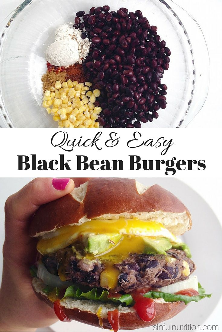 A Quick & Easy Bean Burger Recipe -- Made with only a few simple ingredients you probably already have in your pantry! Both gluten-free and vegan, and easily customizable. (Easy Quick Diet)