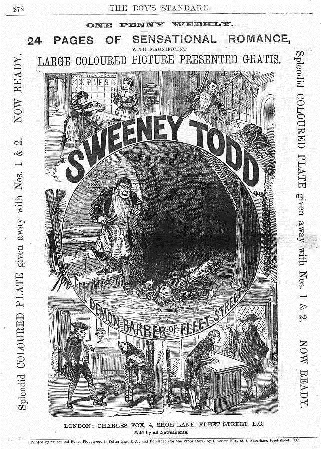 61 best a penny dreadful images on pinterest sweeney todd victorian penny dreadfuls wrapper from an 1870s penny dreadful magazine a later version of the fandeluxe Choice Image