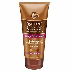 Banana Boat Sunless Summer Color Self Tanning Lotion, Deep Dark, Deep Dark 6 fl oz (177 ml) by Banana Boat. $10.99. Streak Free.. Deep Dark Color. For All Skin Tones.. Self Adjusting Color? For a Natural-Looking Tan. Summer Color Self-Tanning Lotion. Banana Boat? Summer Color? Self-Tanning Lotion give s you a radiant, deep summer tan all year long.ÿ The Self Adjusting Color? formula lets you control the shade of your tan and allows you to achieve the deepest tan available ...