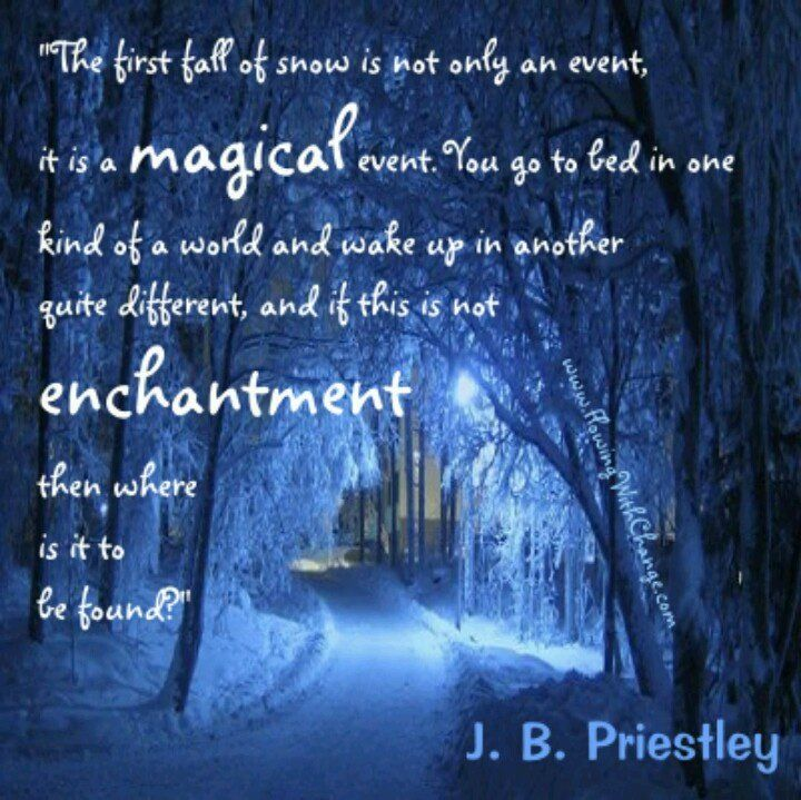 Quotes About The First Snow