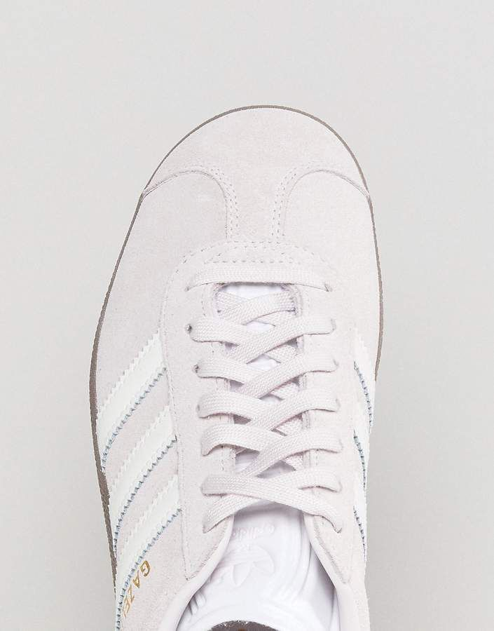 promo code e7a88 01dbb adidas Originals Gazelle Sneakers In Lilac With Dark Gum Sole