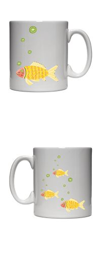 meyve şöleni - balık / the fruit feast - the fish / mug / orange / lemon / kiwi / pear / banana / watermelon / pattern