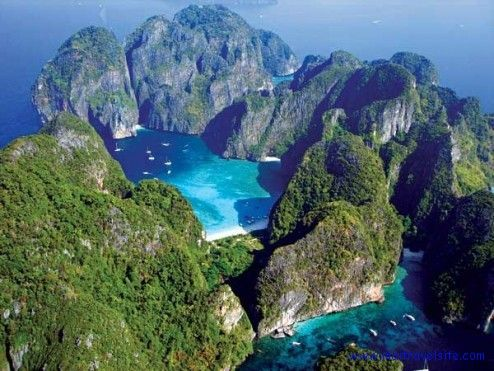 """Kho Phi Phi Leh Island, Thailand  This is where the Leonardo Dicaprio movie """"The Beach"""".  Emily will be here Friday July 6th at 1:45"""