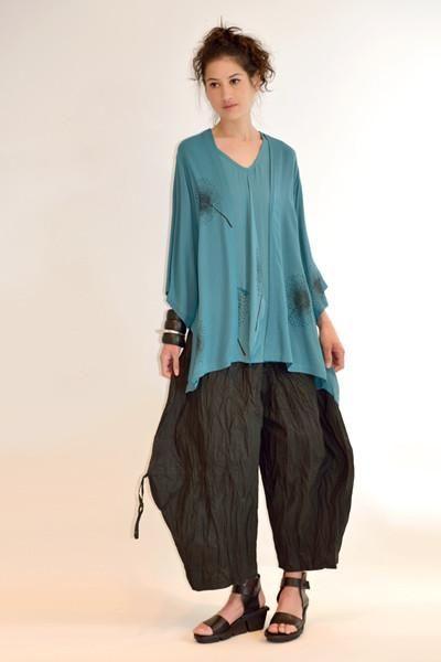 Короткая кимоно куртка в капри