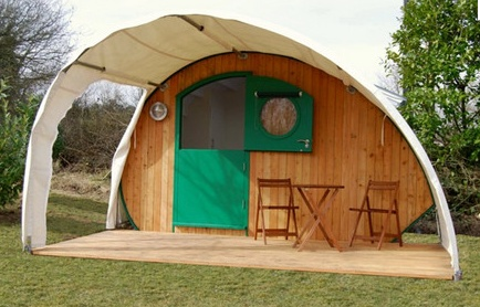 Canvas tent extension to Teardrop Trailer.   Tents, Tipis and Portable Shelters   Pinterest ...