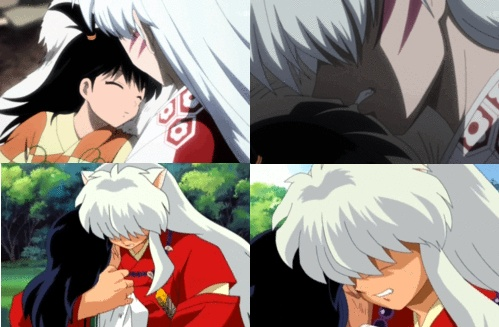 InuYasha, and sesshomaru said falling in love with humans was a weakness. I don't care what people say. Sesshomaru loves Rin and should be with her when she grows up. He wasn't around Kagura enough to have a relationship with her.