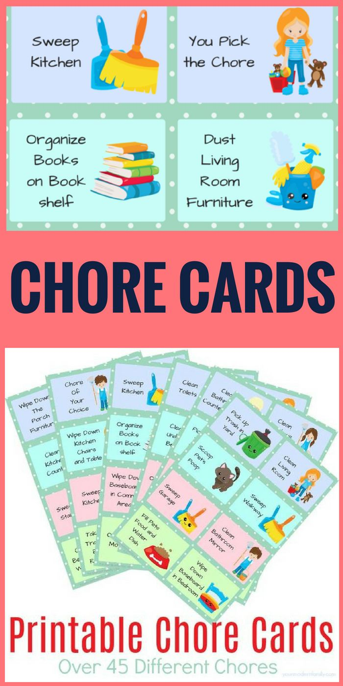 Peaceful image regarding printable chore cards