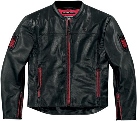 Icon 1000 Chapter Motorcycle Jacket - Pursuit Black
