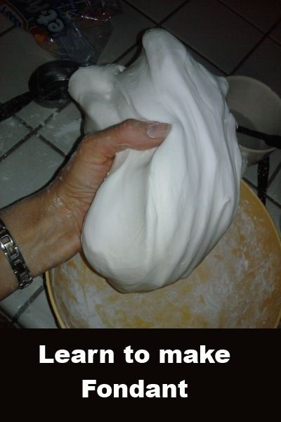 Making marshmallow fondant is so easy and very satisfying. This fondant I use for covering figures, covering cakes but not for anything that needs to dry hard and hold a shape. It just is too moist and would take forever to dry.  Ingredients needed are 1lb powdered sugar 1/2 cup Crisco (original) 16oz bag marshmallows (MMs) 2-4 T water