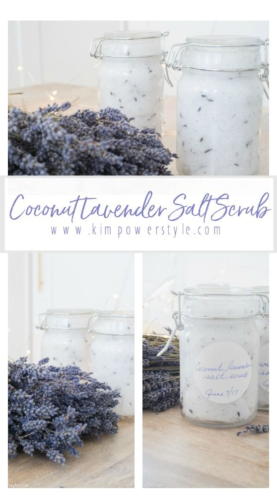A Simple Coconut Lavender Salt Scrub