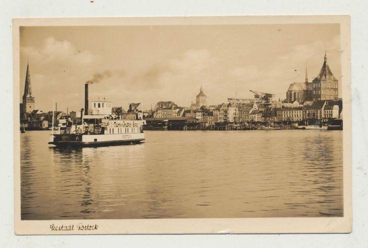 + 1940.. Dampfer..Schiff.. Fähre Rostock.. Hafen..Kran.. Cords. Seestadt Rostock    eBay