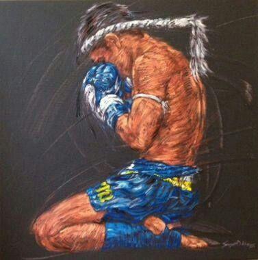 Muay thai painting