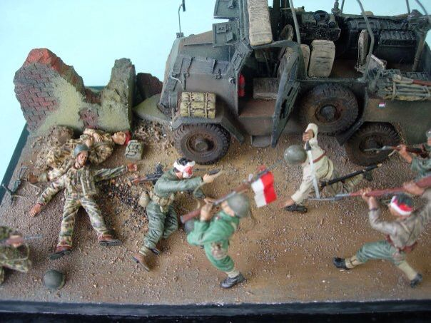1/35 scale KNIL, fight TNI 1945, by ademodelart