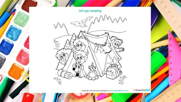 Camping colouring page http://www.essentialkids.com.au/activities/colouring-pages/alphabet-bubble-writing-colouing-page-20151016-gkb8tp