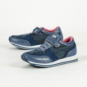 Μπλε αθλητικά παπούτσια με στρας
