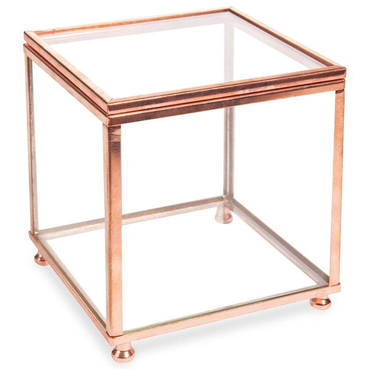 Cofanetto portagioie trasparente in vetro NINA