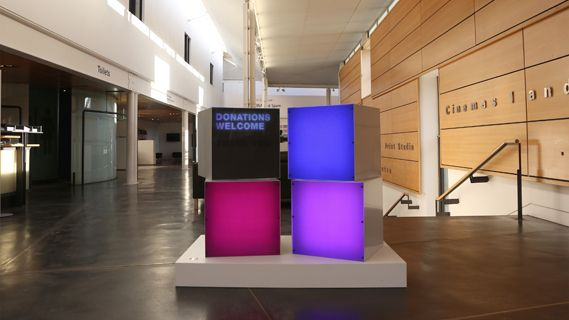 Uniform's interactive donations box for Dundee Contemporary Arts Centre, based on research that suggests introducing video game-style interaction could increase donations revenue for the free venue