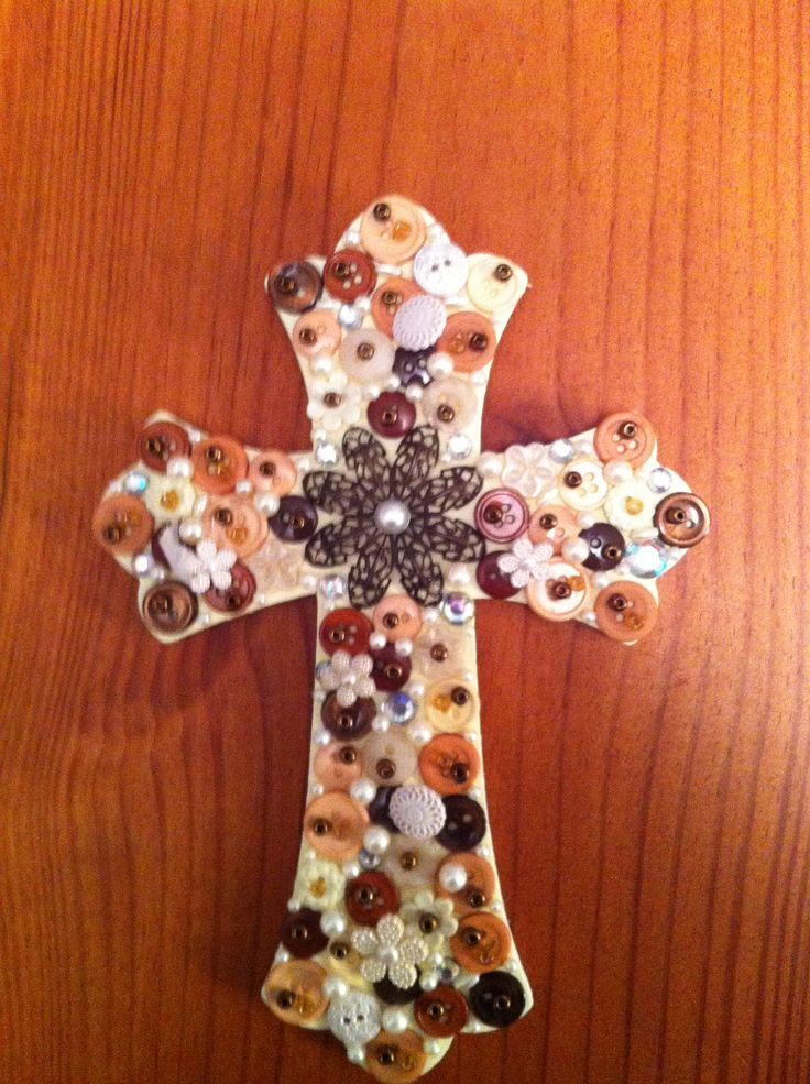 Painted And Decorated Wooden Cross Wooden Crosses