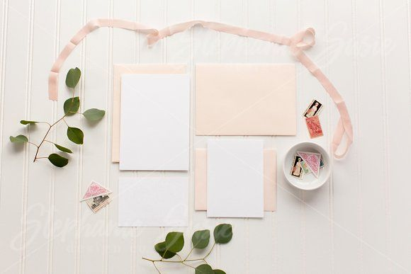 Blush Stationery Invitation Mock up by Stephanie Susie Design Co on creativemarket, Styled Stock Photos, Flat lay