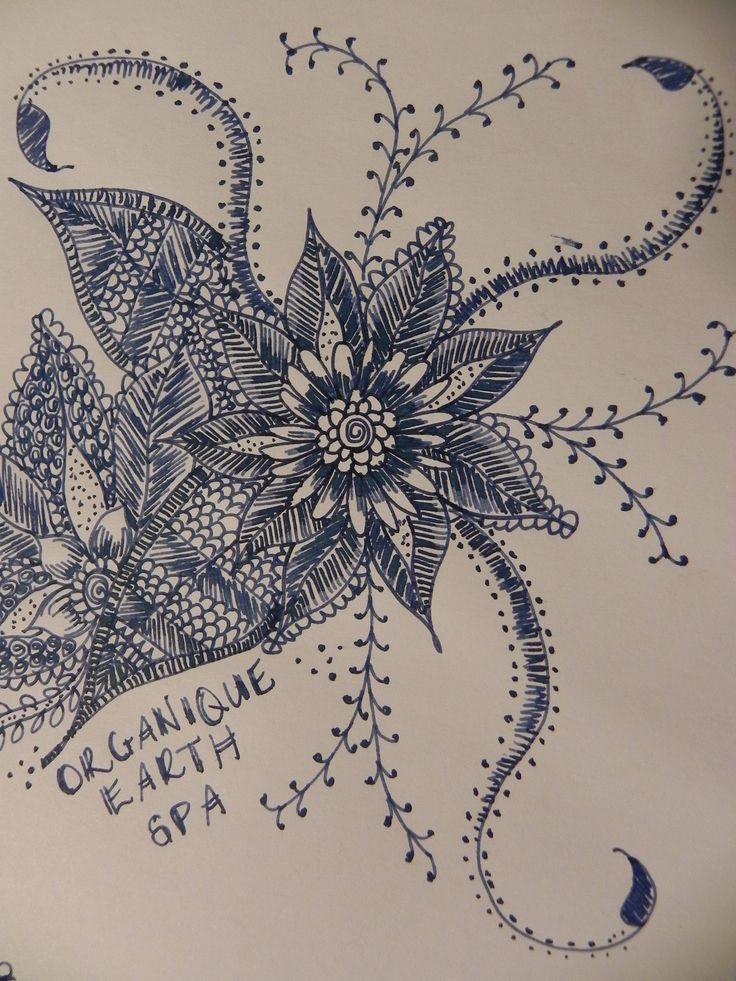 www.orgniqueearthspa.com.au Organique Earth Spa - Mornington Day Spa experience. Some creative Organique art...practicing some henna artwork...