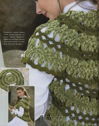 Receitas de Crochet: Bolero - free pattern