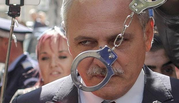 Liviu Dragnea, the President of the ruling party in Romania, suspected by the European Anti-fraud Office of leading a mafia criminal group, met by protestors on the streets of Bucharest : europe