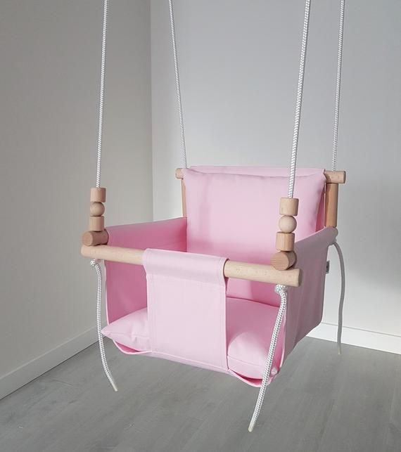 Comfortable Design Pink Baby Swing Ships Fast Toddler Swing Natural Swing Cotton Swing Indoor Swing Birthday Gift Baby Swing Chair Baby Swing Chair Swinging Chair Baby Swings