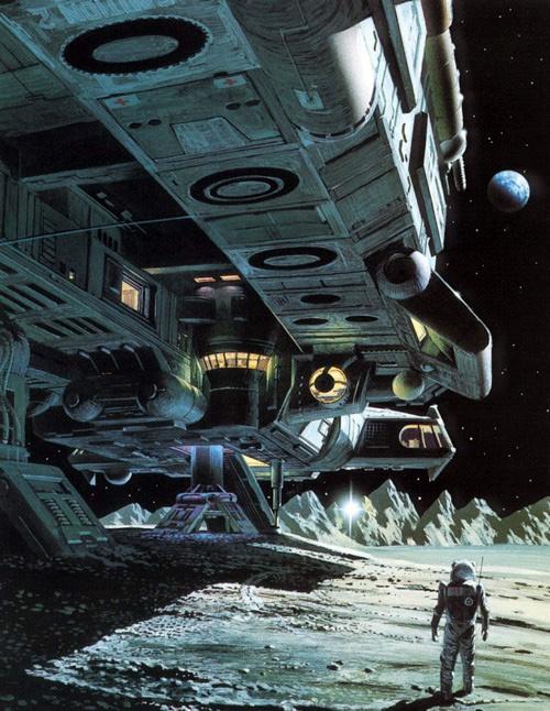 Spaceship at rest.