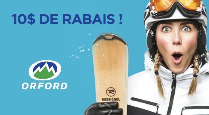 COUPON RABAIS MONT ORFORD DE 10 $