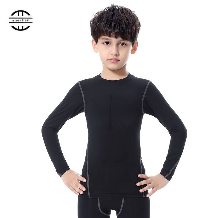 YEL T1019 New Quick Dry Tights Clothing Fitness Kids Sportswear Long Sleeve Children Jersey Running Gym T Shirt Boys And Girls