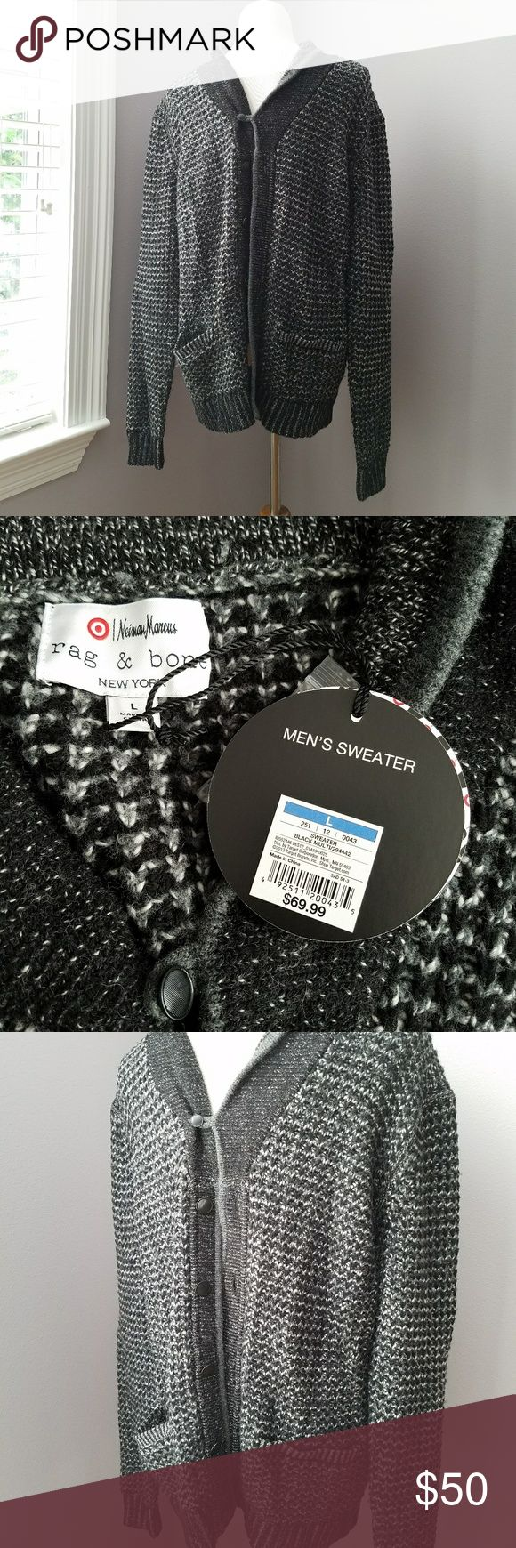 Rag & bone NM + Target Mens Shawl Collar Sweater New with tags! Cotton wool blend Button down front cardigan   BUNDLE your likes and shoot me and OFFER for best deals rag & bone Sweaters Cardigan