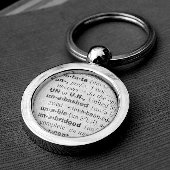 Custom Dictionary Key Chain  Makes a Great by DaisyMaeDesignsShop