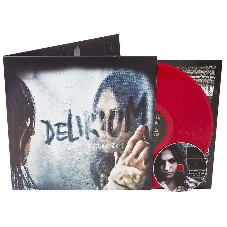 """L'album dei #LacunaCoil intitolato """"Delirium"""" su vinile coloro rosso in edizione limitata con copertina rigida cartonata gatefold. Include un CD bonus. Edizione limitata a sole 200 copie."""