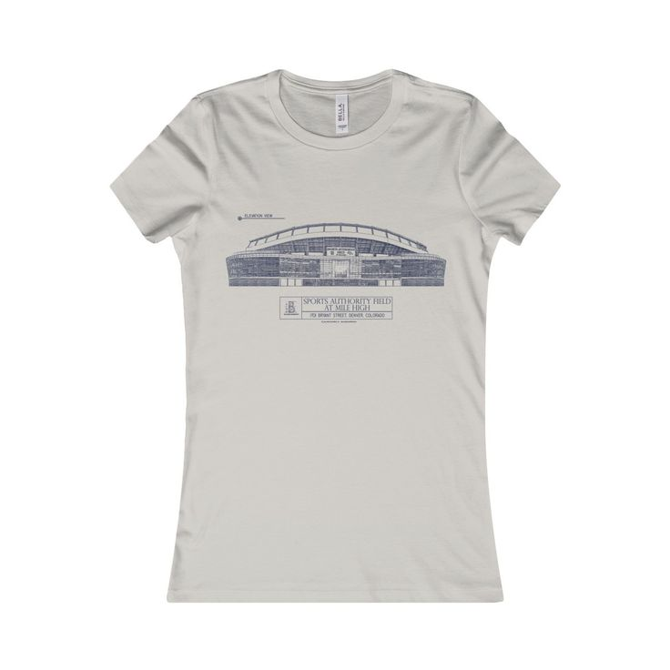 Sports Authority Field at Mile High (Blue Lines) Women's Favorite Tee