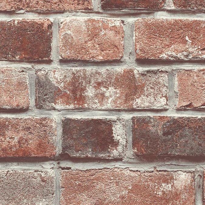 Transform Transform Red Brick Peel And Stick Wallpaper Lowes Com Brick Wallpaper Peel And Stick Peel And Stick Wallpaper Removable Brick Wallpaper
